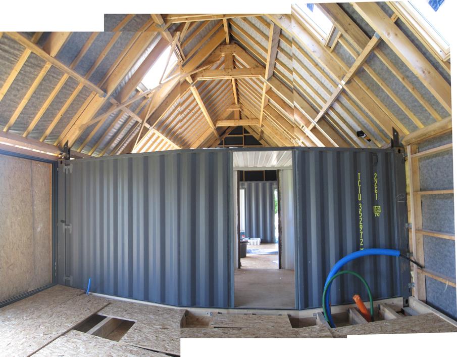 Maison de vacances en containers maritimes et ossature for Architectes rennes