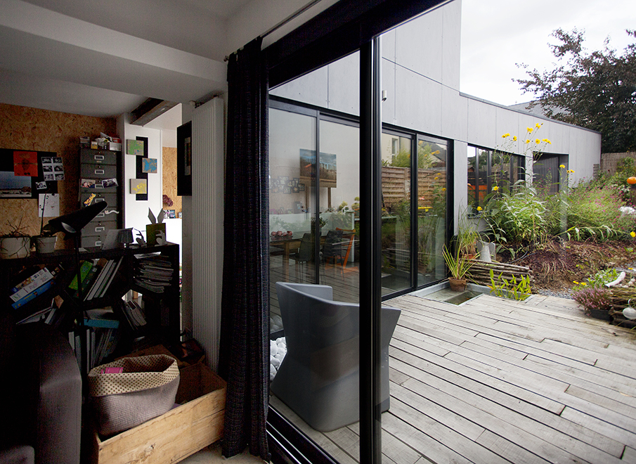 r novation et extension d 39 une maison rennes 35 ossature bois f mnm architectes rennes. Black Bedroom Furniture Sets. Home Design Ideas