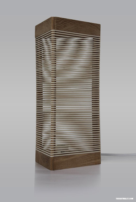 uma lumin ria de cabeceira feita com madeira e el sticos mat ria inc gnita. Black Bedroom Furniture Sets. Home Design Ideas